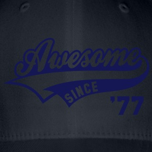 Awesome SINCE 1977 - Birthday Anniversaire T-Shirt WN - Flexfit Baseball Cap