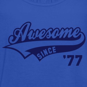 Awesome SINCE 1977 - Birthday Geburtstag Anniversaire T-Shirt WN - Frauen Tank Top von Bella