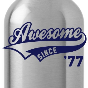 Awesome SINCE 1977 - Birthday Geburtstag Anniversaire T-Shirt WN - Drinkfles