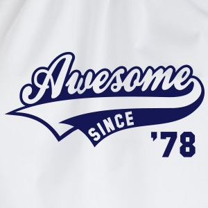 Awesome SINCE 1978 - Birthday Geburtstag Anniversaire T-Shirt BW - Gymtas