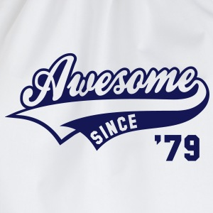 Awesome SINCE 1979 - Birthday Geburtstag Anniversaire T-Shirt BW - Gymtas