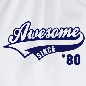 Awesome SINCE 1980 - Birthday Anniversaire T-Shirt BW - Sac de sport léger