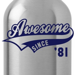 Awesome SINCE 1981 - Birthday Anniversaire T-Shirt WN - Water Bottle