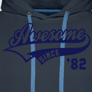 Awesome SINCE 1982 - Birthday Anniversaire T-Shirt WN - Men's Premium Hoodie