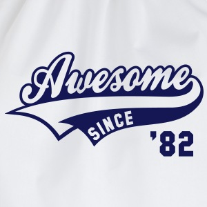 Awesome SINCE 1982 - Birthday Geburtstag Anniversaire T-Shirt BW - Gymtas