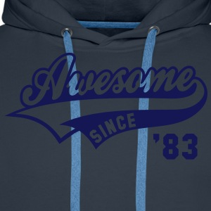 Awesome SINCE 1983 - Birthday Geburtstag Anniversaire T-Shirt WN - Mannen Premium hoodie