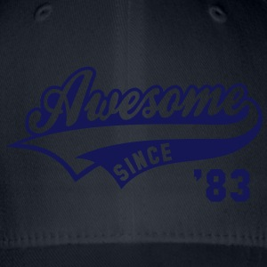 Awesome SINCE 1983 - Birthday Anniversaire T-Shirt WN - Flexfit Baseball Cap