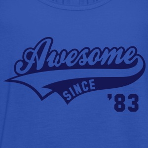 Awesome SINCE 1983 - Birthday Geburtstag Anniversaire T-Shirt WN - Vrouwen tank top van Bella