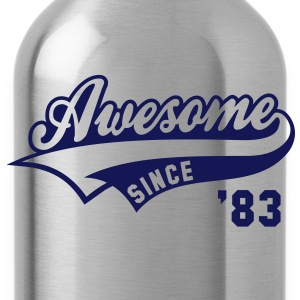 Awesome SINCE 1983 - Birthday Anniversaire T-Shirt WN - Water Bottle