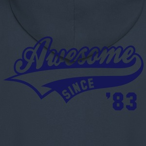 Awesome SINCE 1983 - Birthday Anniversaire T-Shirt WN - Men's Premium Hooded Jacket