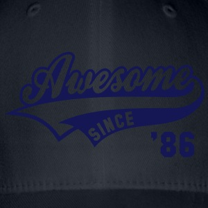 Awesome SINCE 1986 - Birthday Anniversaire T-Shirt WN - Flexfit Baseball Cap