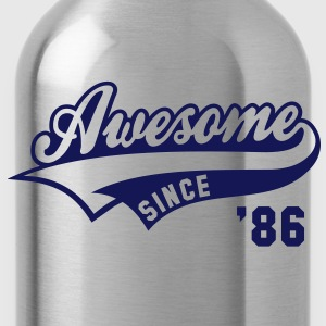 Awesome SINCE 1986 - Birthday Geburtstag Anniversaire T-Shirt WN - Trinkflasche