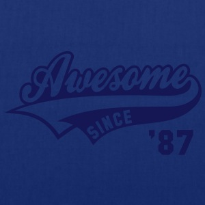 Awesome SINCE 1987 - Birthday Anniversaire T-Shirt WN - Tote Bag
