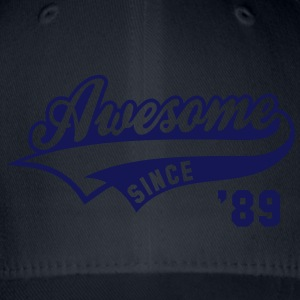 Awesome SINCE 1989 - Birthday Anniversaire T-Shirt WN - Flexfit Baseball Cap