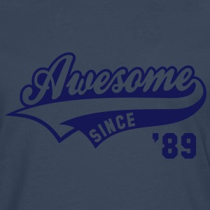 Awesome SINCE 1989 - Birthday Anniversaire T-Shirt WN - Men's Premium Longsleeve Shirt