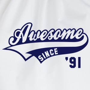 Awesome SINCE 1991 - Birthday Geburtstag Anniversaire T-Shirt BW - Gymtas