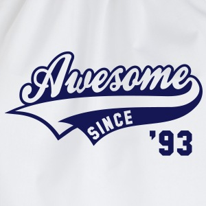Awesome SINCE 1993 - Birthday Geburtstag Anniversaire T-Shirt BW - Gymtas