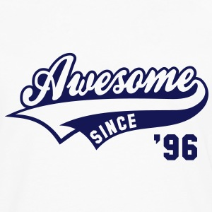 Awesome SINCE 1996 - Birthday Anniversaire T-Shirt BW - Men's Premium Longsleeve Shirt
