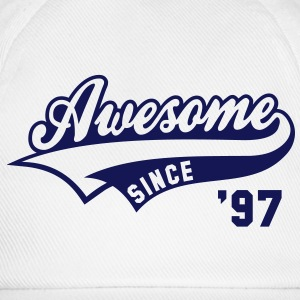 Awesome SINCE 1997 - Birthday Anniversaire T-Shirt BW - Baseball Cap