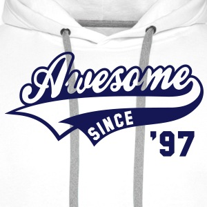 Awesome SINCE 1997 - Birthday Anniversaire T-Shirt BW - Men's Premium Hoodie