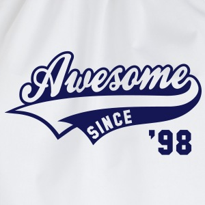 Awesome SINCE 1998 - Birthday Geburtstag Anniversaire T-Shirt BW - Gymtas