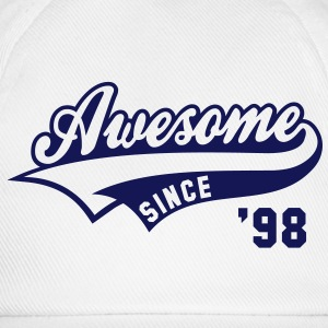 Awesome SINCE 1998 - Birthday Anniversaire T-Shirt BW - Baseball Cap