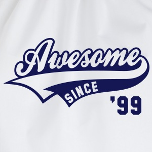 Awesome SINCE 1999 - Birthday Geburtstag Anniversaire T-Shirt BW - Gymtas