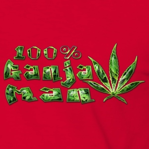 100%ganja man Jackets & Vests - Men's Ringer Shirt