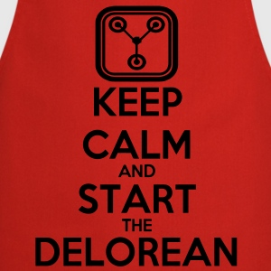 Keep Calm and start the Delorean T-Shirts - Kochschürze
