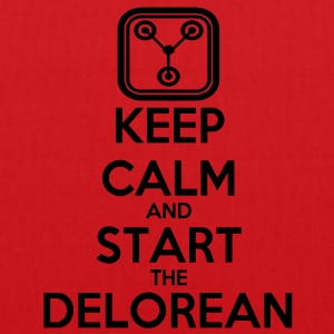 Keep Calm and start the Delorean T-Shirts - Stoffbeutel