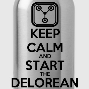 Keep Calm and start the Delorean Pullover - Trinkflasche