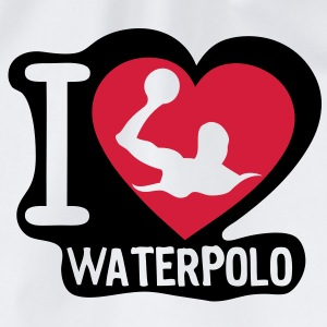 i love waterpolo5 coeur heart Tee shirts - Sac de sport léger