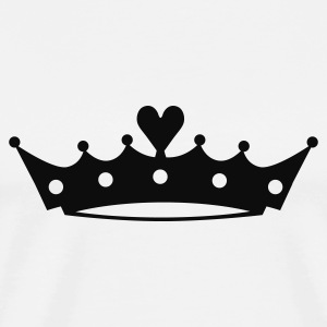 Crown with Heart Sweaters - Mannen Premium T-shirt