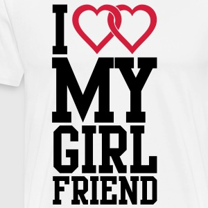 I love my Girlfriend Langarmshirts - Männer Premium T-Shirt