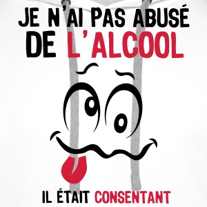 abuse alcool consentant smiley1 Tee shirts - Sweat-shirt à capuche Premium pour hommes