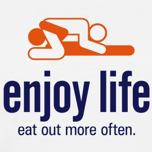 Enjoy Life 5 (2c)++  Aprons - Men's Premium T-Shirt
