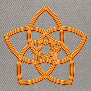 Venus Flower - FLOWER OF LOVE, digital orange, symbol of love, balance and beauty Tee shirts - Casquette snapback
