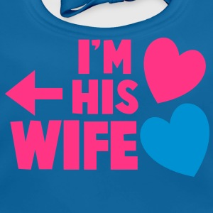 I'm his wife with arrow left and cute love hearts Shirts - Baby Organic Bib