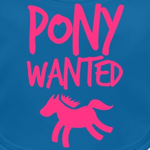 pony wanted with cute little horse and funky font  Shirts - Baby Organic Bib