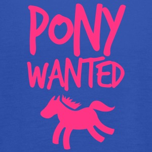 pony wanted with cute little horse and funky font  Shirts - Women's Tank Top by Bella