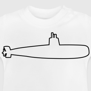 submarine bomber outline simple Kids' Shirts - Baby T-Shirt