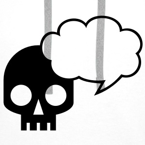 Cool skull square with awesome speech bubble talk Accessories - Men's Premium Hoodie