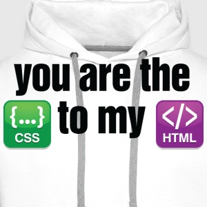 You Are The Css 3 (dd)++ Tee shirts - Sweat-shirt à capuche Premium pour hommes