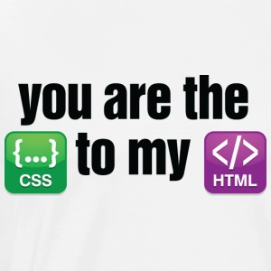 You Are The Css 3 (dd)++ Sweaters - Mannen Premium T-shirt