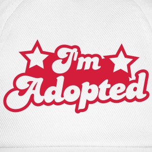 I'm adopted! super cute font with stars  Shirts - Baseball Cap