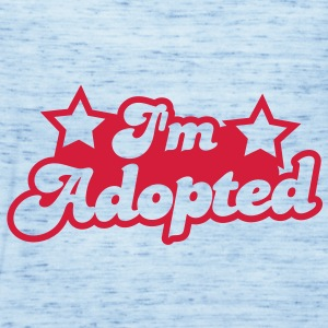 I'm adopted! super cute font with stars  Shirts - Women's Tank Top by Bella