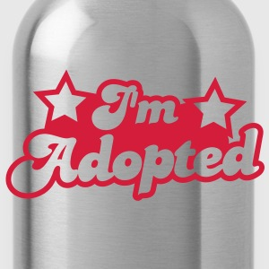 I'm adopted! super cute font with stars  Shirts - Water Bottle