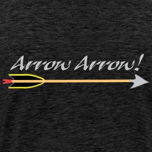 Arrow Arrow Allo Allo Archery by Patjila Hoodies & Sweatshirts - Men's Premium T-Shirt