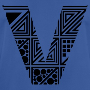 Royal blue Letter V Hoodies & Sweatshirts - Men's Breathable T-Shirt