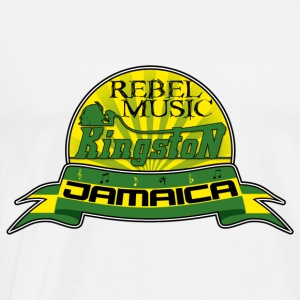 rebel music kingston jamaica Felpe - Maglietta Premium da uomo